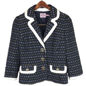 NWOT Juicy Couture Tweed Sail Buttons Blazer 2